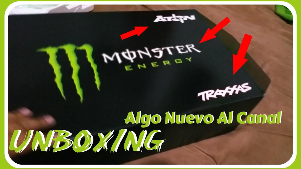 UNBOXING   Traxxas Aton Monster Energy editon