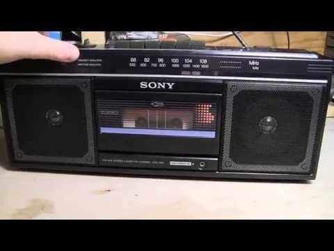 Sony CFS-230 Cassette-Corder Boombox & A New Cassette Tape