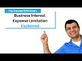 Business Interest Expense Limitation | Corporate Income Tax Course | TCJA 217  | CPA Exam Regulation