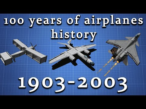 100 Years of airplanes history | KSP 100% Stock