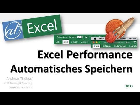 Automatisches Speichern im OneDrive - Excel Performance