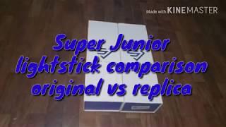 Super Junior Lightstick Official vs Replica