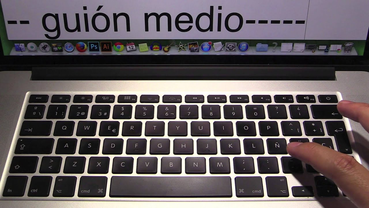 One como escribir guion bajo en macbook air