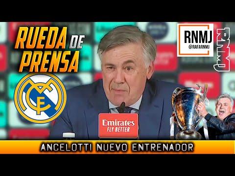 Rueda de prensa de ANCELOTTI nuevo entrenador REAL MADRID (02/06/2021)