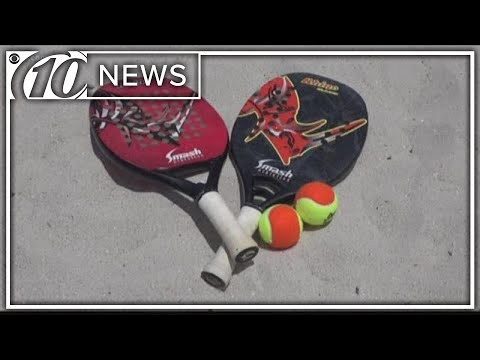 Beach tennis is a cross between badminton, volleyball and tennis