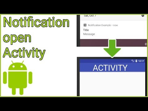 How to Open an Activity from a Notification - Android Studio Tutorial