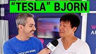 """""""Tesla"""" Bjorn Talks Electric Cars at the Frankfurt Auto Show"""