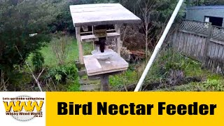 Bird Nectar Feeder. Pallet Wood Challenge 2015. - Wacky Wood Works