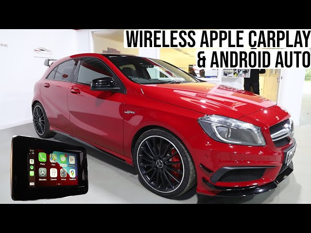 Mercedes A45 AMG Apple Car Play & Android Auto RETROFITTED   Factory Screen!