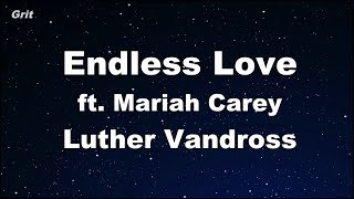 Endless Love ft. Mariah Carey - Luther Vandross Karaoke 【No Guide Melody】 Instrumental
