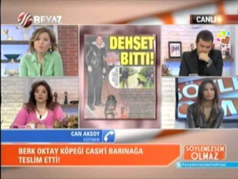 Berk Oktay'ın Rottweiler cinsi saldırgan köpeğini Can Paksoy Beyaz Tv'de anlattı.