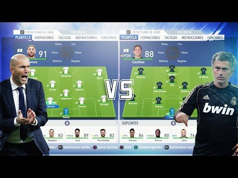 Real Madrid de Zidane VS Real Madrid de Mourinho | FIFA 19 EPIC MATCHES