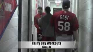 St. Louis Cardinals Spring Training - Rainy Day Workouts 2015