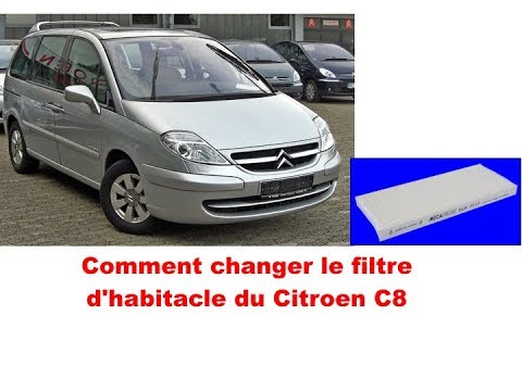 citroen c8 comment changer le filtre d 39 habitacle youtube. Black Bedroom Furniture Sets. Home Design Ideas