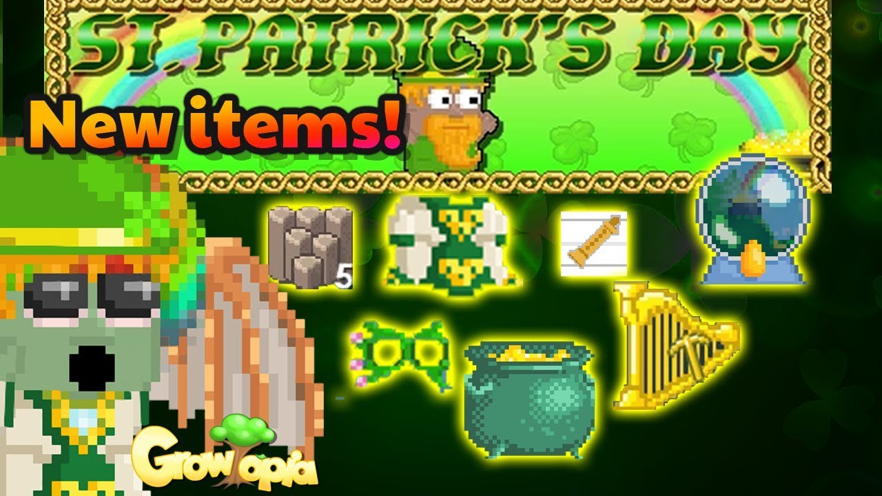St Patrick S Day New Items How To Get Growtopia