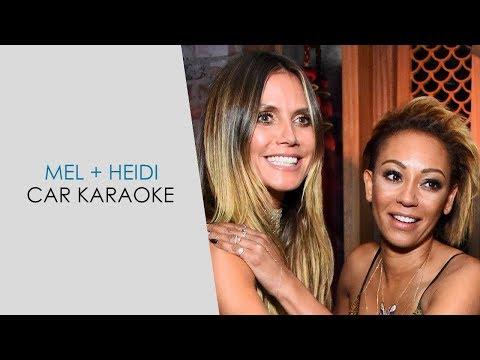 Car karaoke fun with Mel B & Heidi Klum