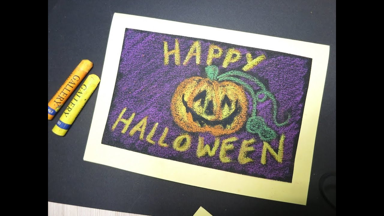 Halloween Card Making Ideas Part - 16: Make Halloween Card Crafts Ideas Kids Adult Diy Cards With Sanding Paper -  YouTube