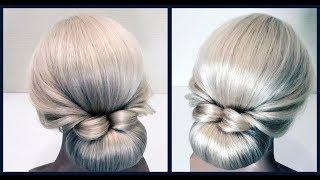 Быстрая Красивая прическа(пучок).Подробный видео урок.Fast hairstyle.Detailed video tutorial.