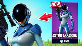 New Astro Assassin Skin Gameplay! (Fortnite Battle Royale)