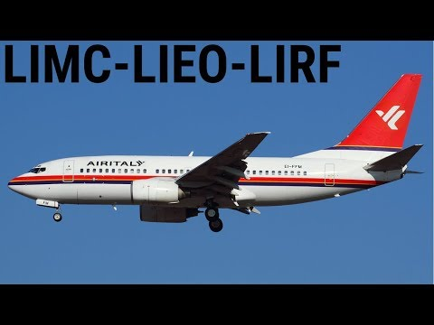 AIR ITALY OPS || Ultimate 737-700 || Milan To Olbia To Rome || Ortho4XP + ASXP || X-PLANE 11