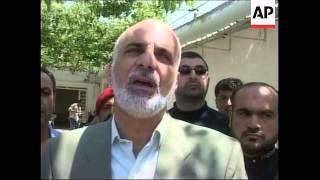 Palestinians in Lebanon mourn Faisal Husseini
