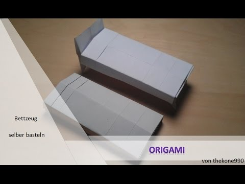 Tutorial Origami Faltanleitung Bettzeug Teil 2 Youtube