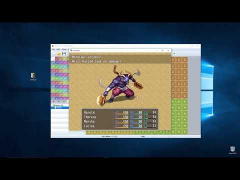 RPG Maker MV - Combat And Battle Getting Started How To Beginner Tutorial