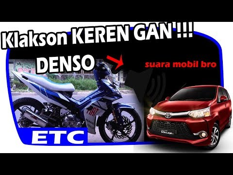 KEREN GAN !!! KLAKSON MOTOR SUARA MOBIL HORN DENSO FULL POWER TONE AVANZA (OLD JUPITER MX)