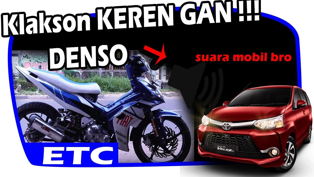 Keren Gan Klakson Motor Suara Mobil Horn Denso Full Power Tone Kondensor Toyota Avanza