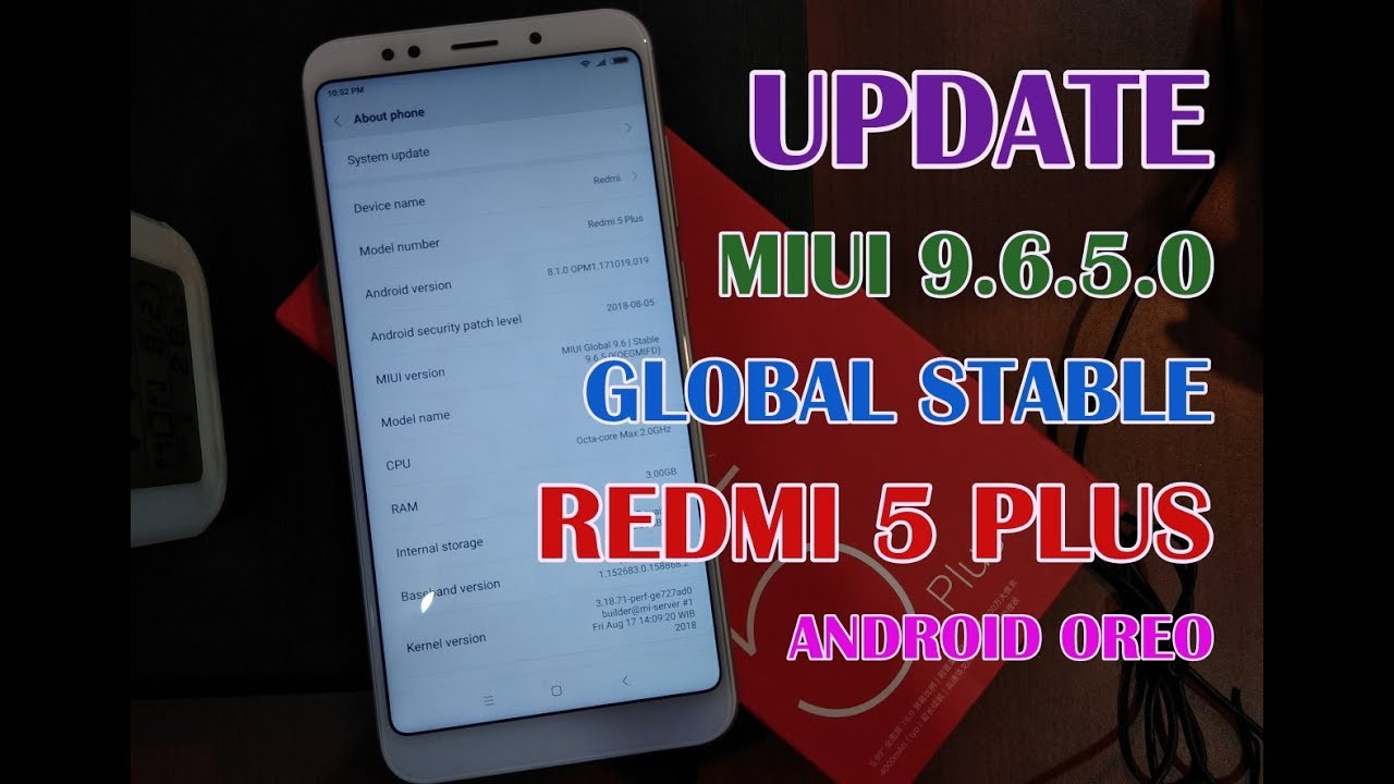 Update MIUI 9 Global Stable 9 6 5 0 Redmi 5 Plus Via TWRP (Android Oreo,  Face Unlock, Portrait)
