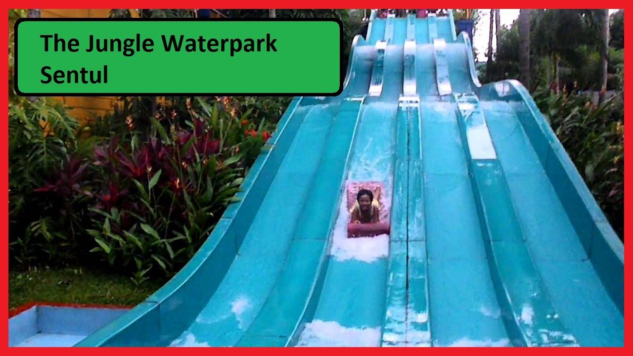 The Jungle Waterpark Bogor Nirwana Residence Wahana Ombak Dan Tiket Masuk Jungleland Sentul 2018 Weekend Racer Slide Youtube