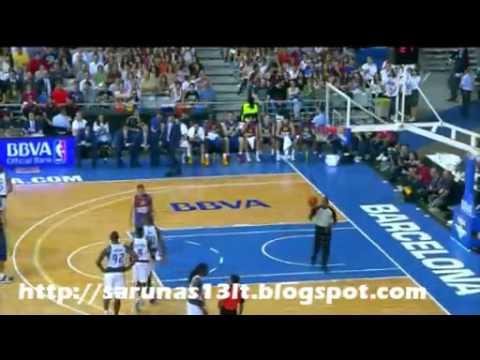 Šarūnas Jasikevičius vs Mavericks 2012 10 09 NBA Europe Live