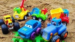 Мультики про машинки. Синий трактор и строительная техника. Машинки. Детские мультики.