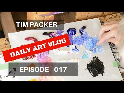 How I paint Birch Trees - Daily Art Vlog - Episode 017