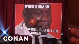 NCAA Mascots That Shouldn't Dunk: Crying Michael Jordan Meme Edition  - CONAN on TBS