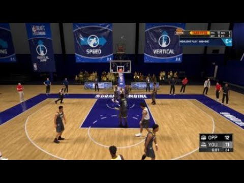NBA 2K20 First Disrespectful Posterizer Dunk By New Slasher In Career Draft Combine