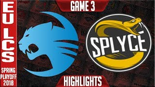 Video ROC vs SPY G3 Playoffs Highlights | EU LCS Quarterfinal Spring Playoffs 2018 Roccat vs Splyce Game 3 download MP3, 3GP, MP4, WEBM, AVI, FLV Juni 2018