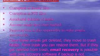Email recovery software