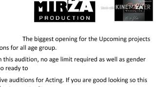 Gambar cover AUDITION UP COMING PROJECT❗MIRZA PRODUCTION PRESENTS