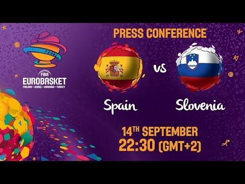 Spain v Slovenia - Press Conference - FIBA EuroBasket 2017