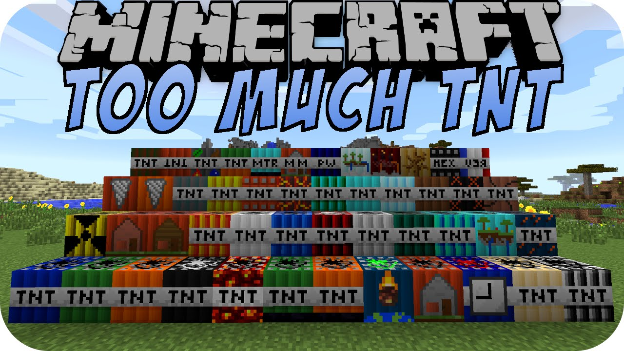 Minecraft TOO MUCH TNT YouTube - Minecraft spiele arten