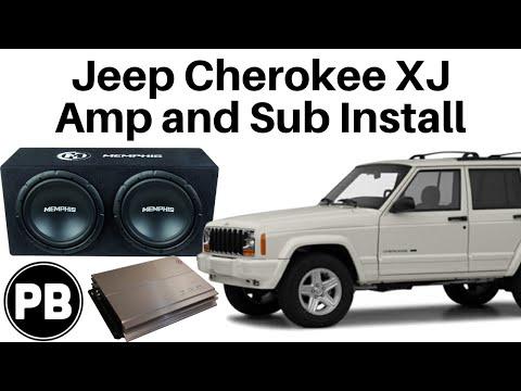 1997 - 2001 Jeep Cherokee XJ Full Tutorial Sub and Amp Install - YouTube