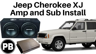 1997 - 2001 Jeep Cherokee XJ Full Tutorial Sub and Amp Install
