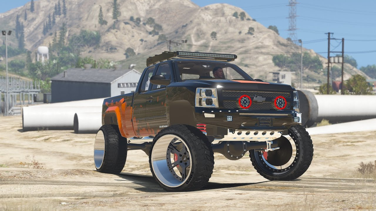 Offroading in a Lifted Silverado 1500! - Gta 5 Mods