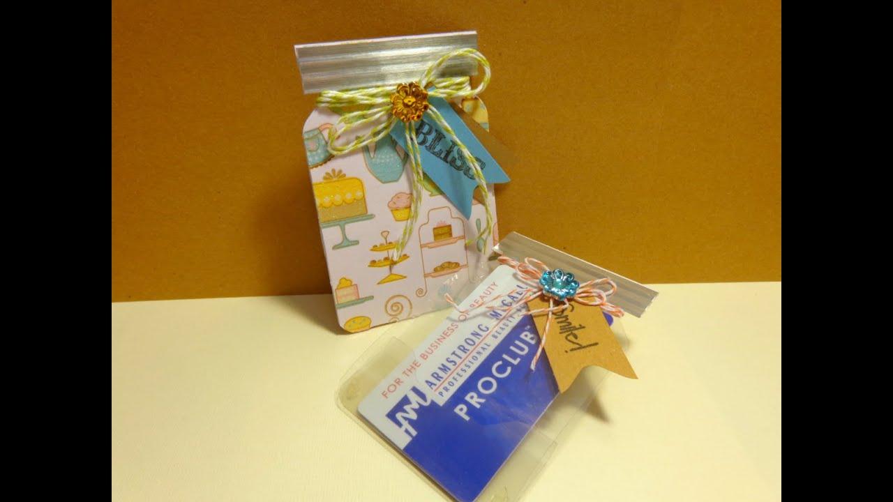 Mason Jar Gift Card Holder using Envelope Punch Board  YouTube