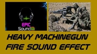 HEAVY MACHINEGUN FIRE sound effect - warzone EPICsoundFX