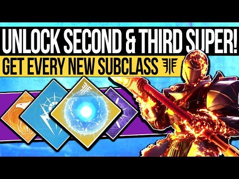 Destiny 2 | How to Unlock SECOND SUBCLASS! Additional Seeds of Light & Super Trees! (Forsaken)