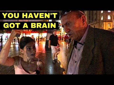 This did NOT end well 🤬 Drunk Man says Vegan Woman doesn't have a brain!