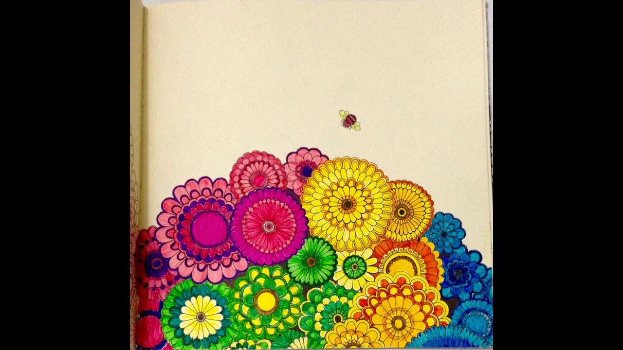 Secret Garden Coloring Book Coloured Pages
