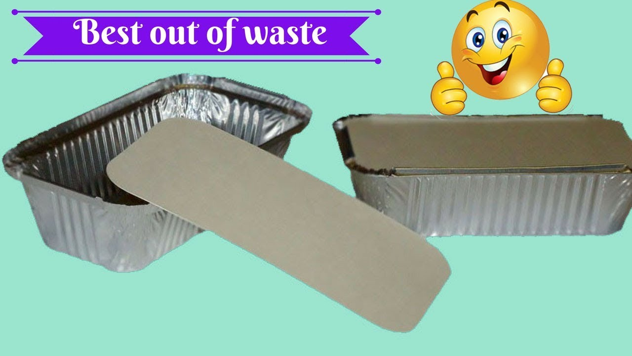 Diy aluminum foil crafts ideas best out of waste for Best out of waste house